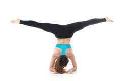 Professional performance of gymnastic exercise Royalty Free Stock Photography