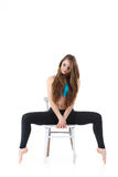 Professional performance of gymnastic exercise Stock Photography