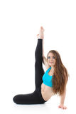 Professional performance of gymnastic exercise Royalty Free Stock Photo