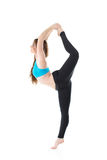 Professional performance of gymnastic exercise Stock Photos