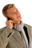 Professional person busy on phone call Royalty Free Stock Photography