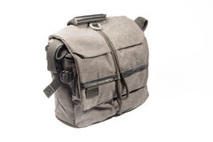 Professional photo bag. Grey professional photo bag for camera and accessories Royalty Free Stock Image
