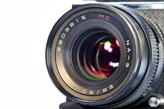 Professional photo lens Stock Images