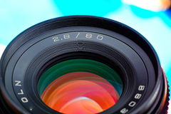 Professional photo lens Royalty Free Stock Photo