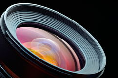 Professional photo lens closeup Royalty Free Stock Images