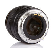 Professional Photo Lens Isolated On White Royalty Free Stock Photography