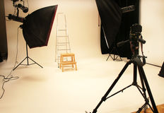 Professional photo studio and equipment Royalty Free Stock Image