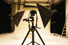 Professional photo studio and equipment Stock Photo