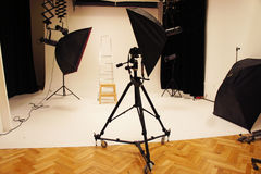 Professional photo studio and equipment Stock Photos