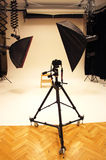 Professional photo studio and equipment Stock Images