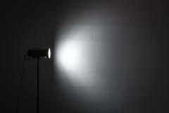 Professional photo studio strobe with reflector. Stock Photo