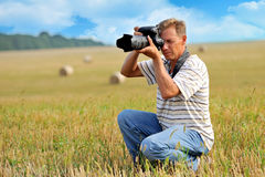 Professional photographer Stock Image