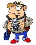 Professional photographer with a camera Royalty Free Stock Photos
