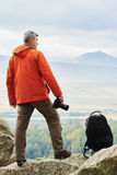 Professional photographer at mountains. Georgia Royalty Free Stock Photos