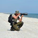 Professional photographer outdoor Stock Photos