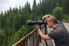Professional photographer outdoor Stock Photography
