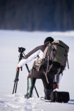 Professional photographer outdoor Royalty Free Stock Photos