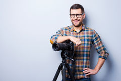 Professional photographer. Royalty Free Stock Images