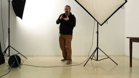 Professional photographer stock video