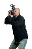 Professional photographer taking photos Stock Images