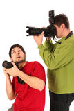 Professional photographers stock photo