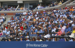 Professional photographers and spectators during US Open 2013 at the Arthur Ashe Stadium at National Tennis Center Stock Photography