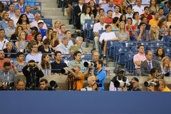 Professional photographers at US Open 2014 at Billie Jean King National Tennis Center Stock Photo