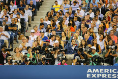 Professional photographers at US Open 2014 at Billie Jean King National Tennis Center Stock Images