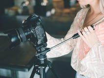 Professional photography equipment blog news Stock Photo