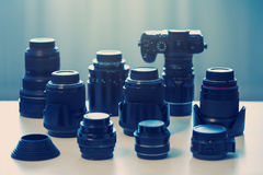 Professional photography equipment Royalty Free Stock Image