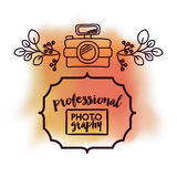 Professional photography over watercolor background  isolated ic Stock Photos