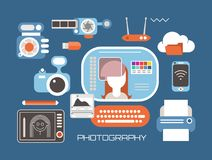 Professional Photography set  vector illustration Royalty Free Stock Photography