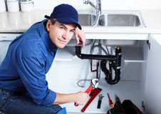 Professional plumber. Royalty Free Stock Photography