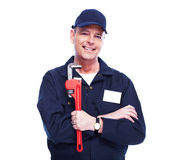 Professional plumber. royalty free stock images