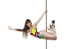 Professional pole dance sport Royalty Free Stock Image