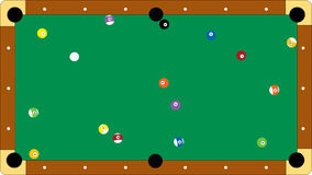 Professional pool table Royalty Free Stock Images