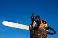 Professional Power Chainsaw Stock Photo