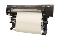 Professional printing machine. The image of a professional printing machine Stock Images