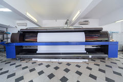 Professional printing machine in printing house Royalty Free Stock Photos