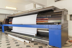 Professional printing machine in printing house Royalty Free Stock Image