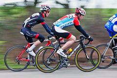 Professional racing cyclists Royalty Free Stock Photos