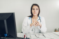 Professional ready to help patients. royalty free stock photo