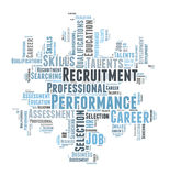Professional recruitment. And talent search word cloud Royalty Free Stock Photo