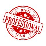 Professional - red stamp Stock Photography