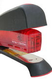 Professional red stapler Royalty Free Stock Image