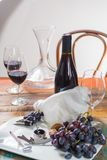Professional red wine tasting event with high quality wine glass. Es and wine accessories close up Stock Images