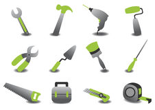 Professional repairing tools icons Stock Photo