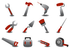 Professional repairing tools icons Stock Image