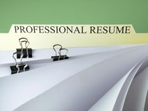 Professional resume Royalty Free Stock Photos