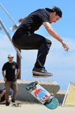 A professional rider at the BMX (Bicycle motocross) Flatland competition Stock Photos